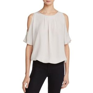 Joie Womens Verrico Silk Cold Shoulder Top S